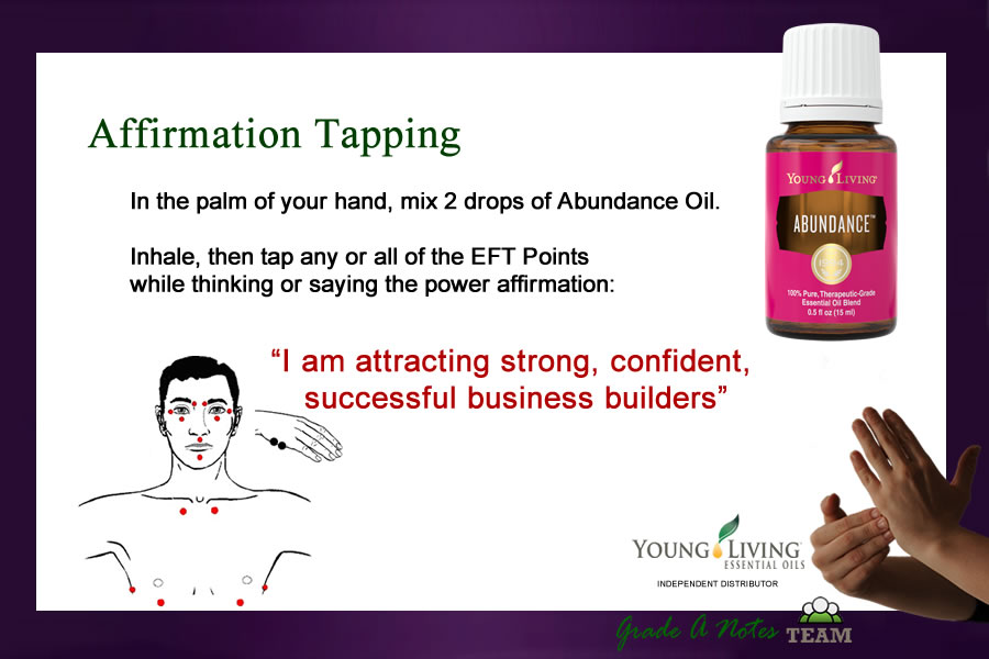 Young Living Abundance Oil for Affirmation Tapping